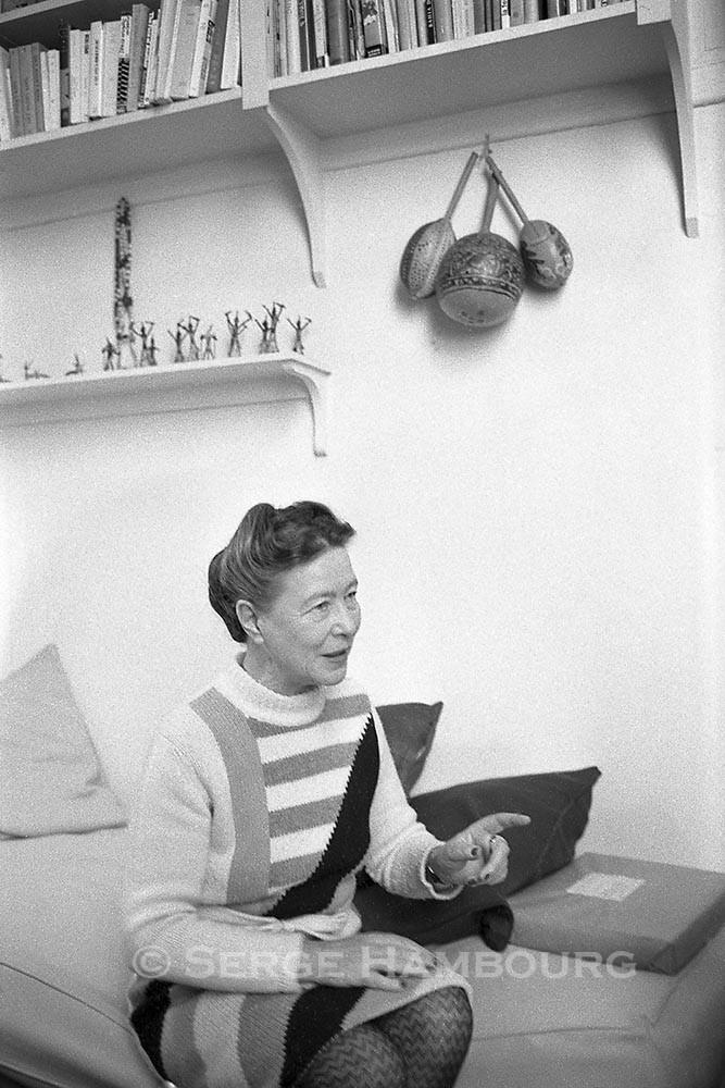 Simone de BEAUVOIR 1968
