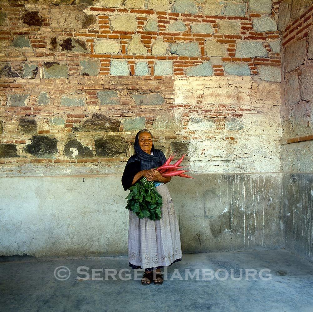 Oaxaca : femme aux radis