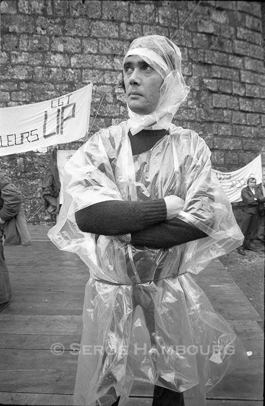 Manifestant LIP Besançon, 1973