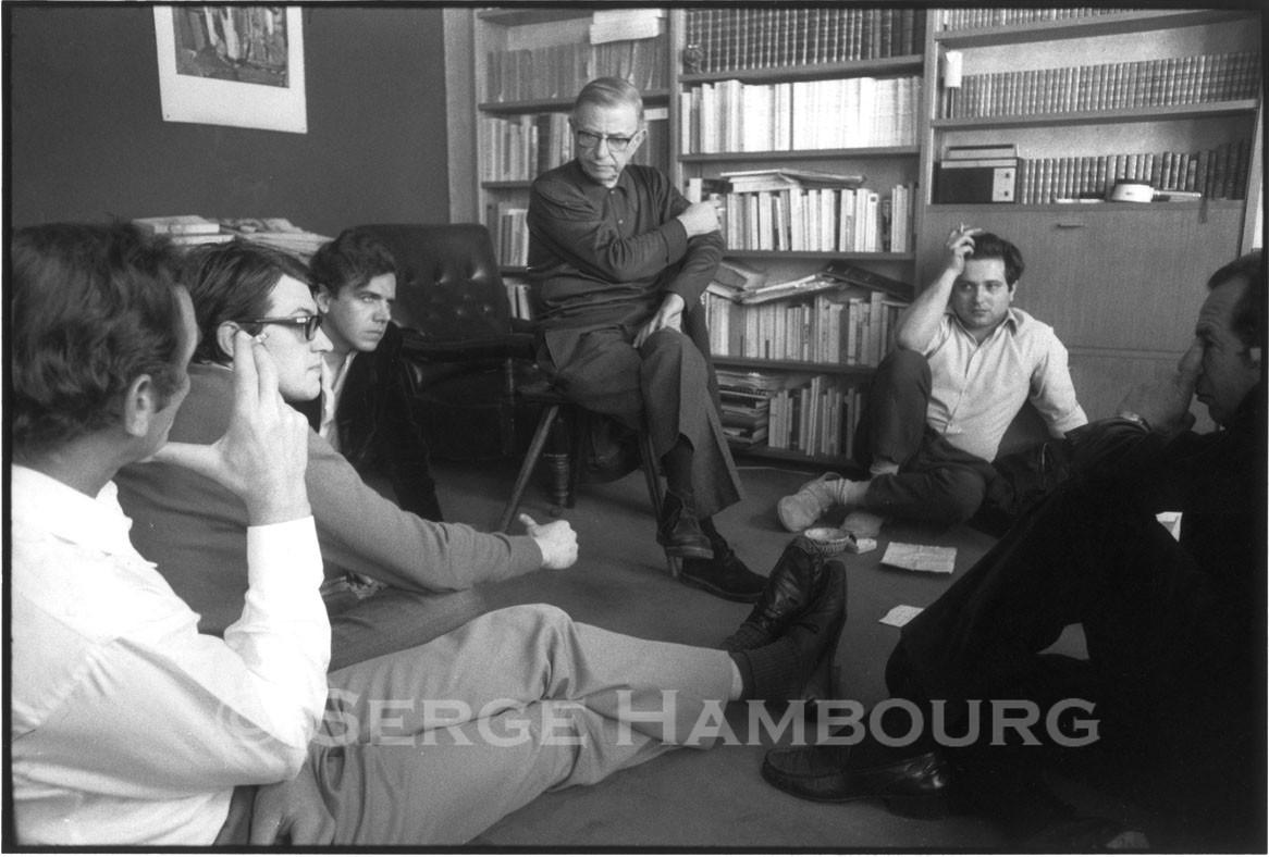 S. July, J. Edern-Hallier, J.P. Sartre, A. Geismar et J. Daniel – 1964